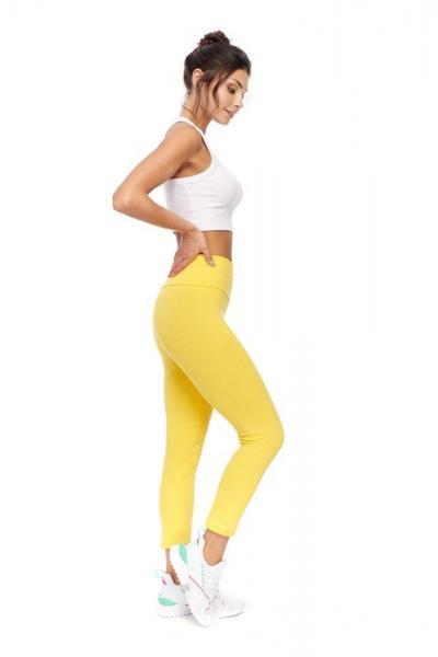 leginsy wyszczuplające żółte
